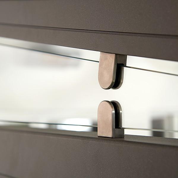 Трехсторонний заполнитель с опцией защелкивающегося фиксатора для стеклянных крыш Murano